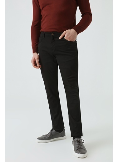 D'S Damat Slim Fit Chino Pantolon Siyah